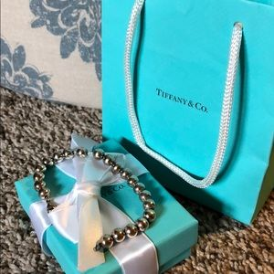 Tiffany and Co. Authentic 3mm Ball Bracelet